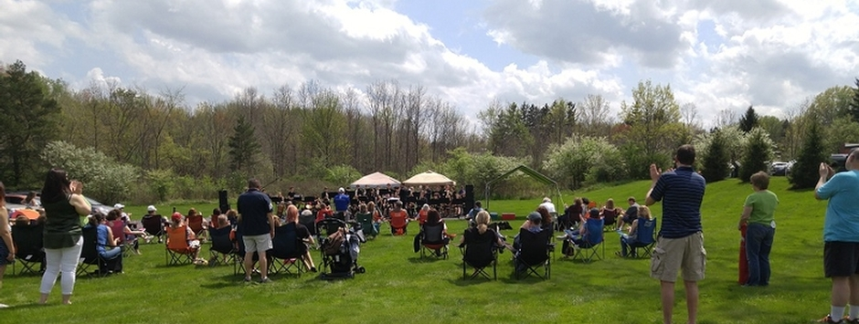 Spring Concert - we were lucky with the weather!